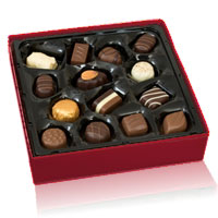 A box of mixed chocolates