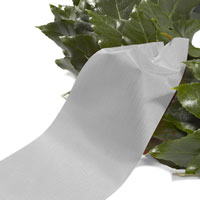 Funeral ribbon light grey