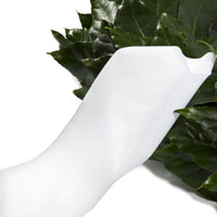 Funeral ribbon white