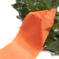 Funeral ribbon orange