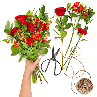 Red Creative Bouquet