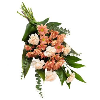 Soft colored funeral bouquet