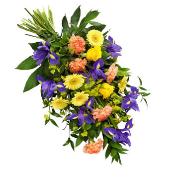 Colorful funeral bouquet