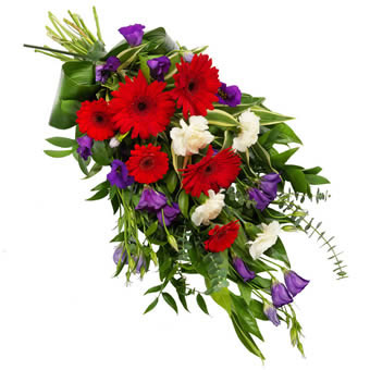 Mixed funeral bouquet