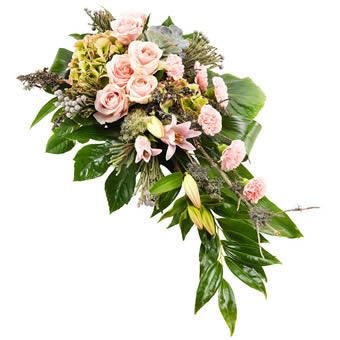 Funeral Spray Rose&Green