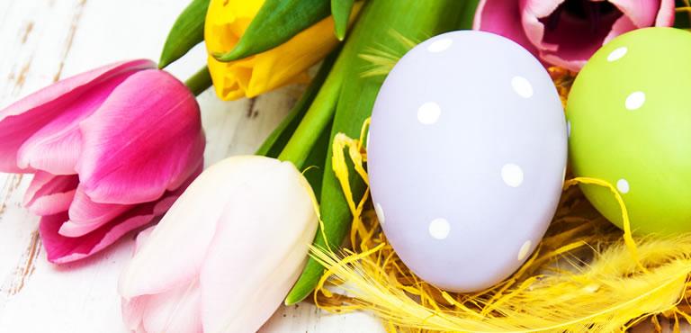 Ostergestecke, Ostersträuße, Osterkörbe