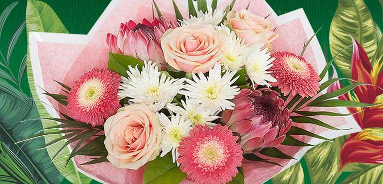 Gratulation mit Blumen