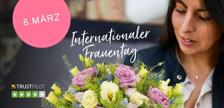 Blumensträuße zum internationalen Frauentag
