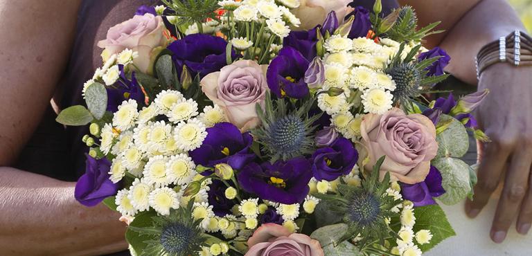Mit Blumen bedanken